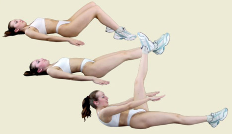 Callatetic stomach exercises