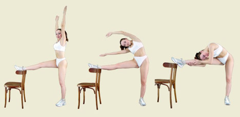 Woman performing Callanetic Exercises for the legs